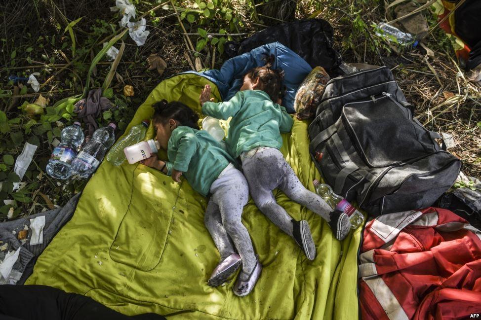 کودکان آوارۀ سوری کجا می خوابند؟