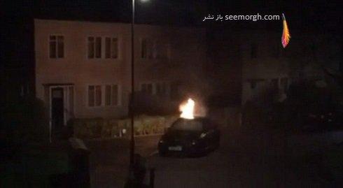 آتش زدن ماشین گرانقیمت مهاجم بلکپول