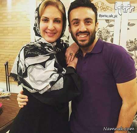 فاطمه خانم گودرزی در کنار پسر عزیزش ، بازیگران مشهور ایرانی ،  عکس