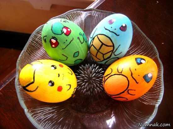 تزیین تخم مرغ  ، تزیین تخم مرغ برای کودکان ، هفت سین