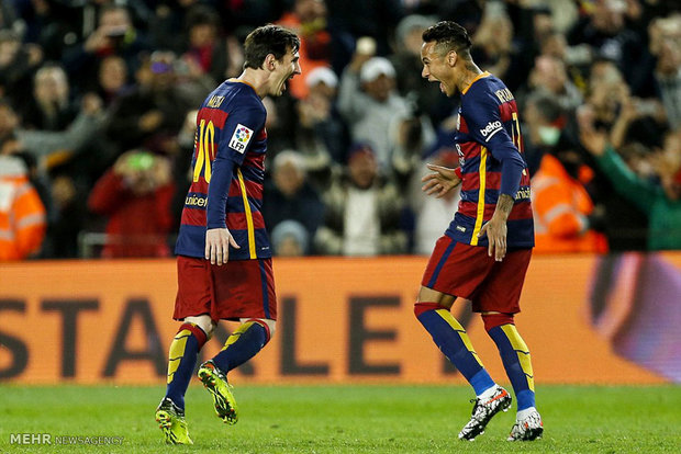 دیدار تیم های بارسلونا و سویا