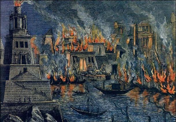 آتشسوزی کتابخانه اسکندریه