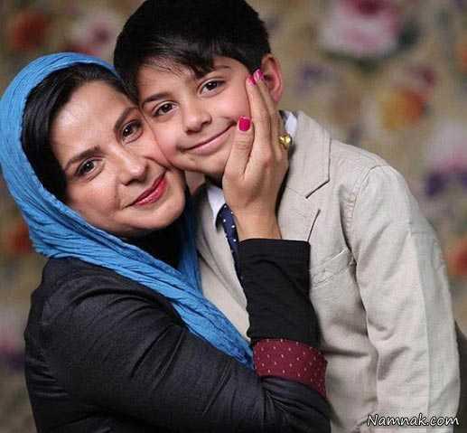 سیما تیر انداز و پسرش ، مجید جوزانی ، همسر