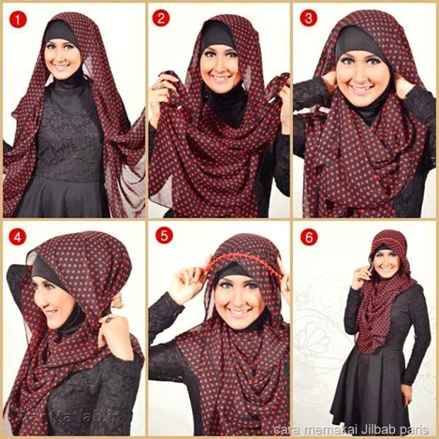 بستن شال بستن روسری آموزش بستن شال