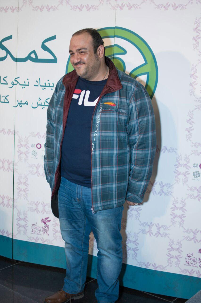تیپ متفاوت مهران غفوریان در دومین روز سی و چهارمین جشنواره فیلم فجر
