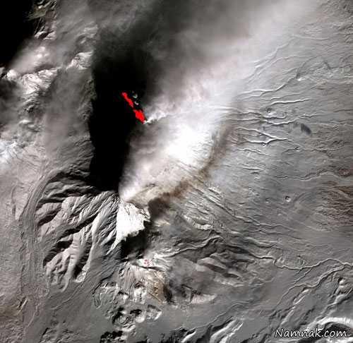 آتشفشان ، ماهواره ، آتشفشان