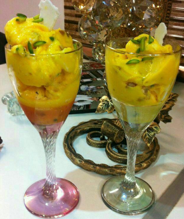 میز اردور/ طرز تهیه «بستنی سنتی زعفرانی»