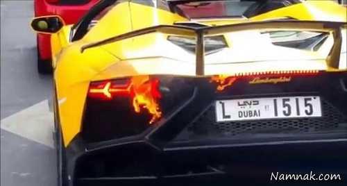 آتش گرفتن لامبورگینی ، لامبورگینی ، لامبورگینی در دبی