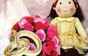 عروسهای عروسک به دست