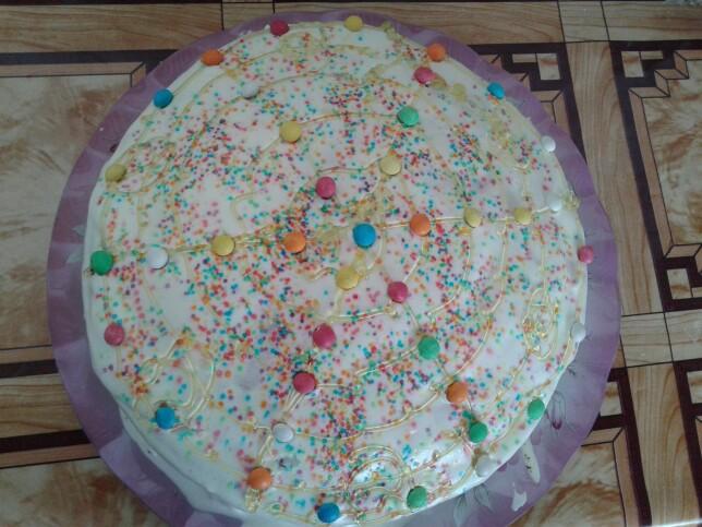از شما/ کیک موزی با روکش خامه