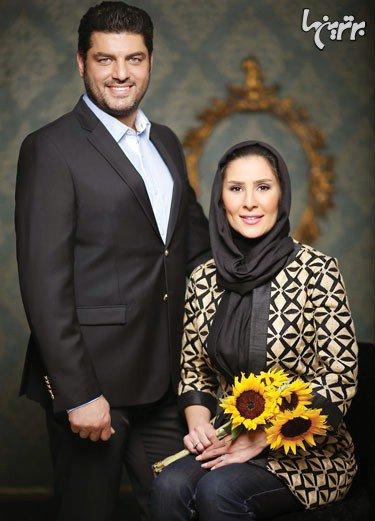 عکس سام درخشانی و همسرش عسل