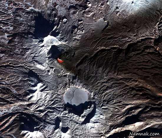 آتشفشان ، عکس ، ماهواره