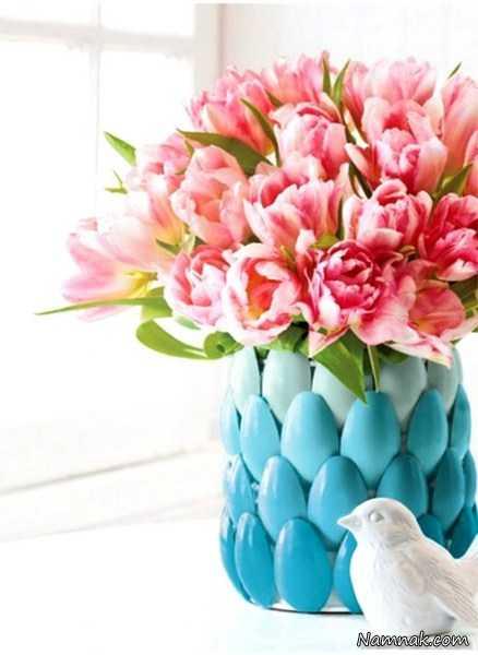 گلدان با وسایل دورریختنی ، آموزش ساخت گلدان ، آموزش ساخت گلدان با وسایل ساده