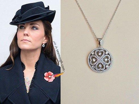 گردنبند طرح بلند کیت میدلتون Kate Middleton
