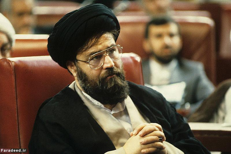 عکس/ مرحوم سید احمد خمینی در صحن مجلس