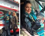 بازیگر زن معروف ایرانی در مسابقات رالی + عکس