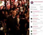 سلفی بازیگر ایرانی با مردم استکهلم + عکس
