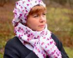 مدل کلاه و شال گردن بافتنی دخترانه 94 -آکا