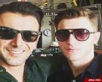 امین حیایی و پسرش +عکس