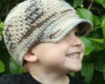 آموزش بافت کلاه لبه دار بچه گانه